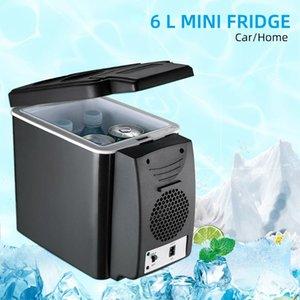Portable 6L Car Refrigerator 12V Multi-Function Temperature Control Dual-Use Box Cooler Warmer Vehicular Fridge For Home Travel