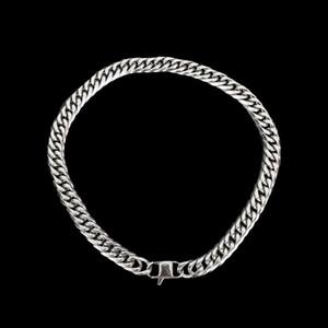 1 Stücke männer Punk Stil Splitter Edelstahl Schwere Bordstein Kubanische Kette Halskette Übertreibung Schmuck Zubehör Hip Pop Halskette C19011501