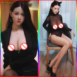 Busto 158 centímetros real TPE Silicone Sex Dolls Adulto japonês Love Dolls Lifelike Anime Oral Vagina Dolls completa de buceta Big