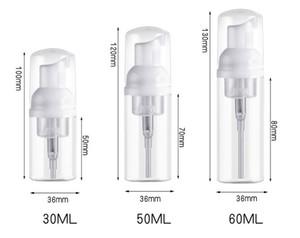 30 мл жидкого мыла Пластиковых бутылок мыла Clear White Foam насос бутылка мыло Муссы дозатор жидкость вспенивание бутылка