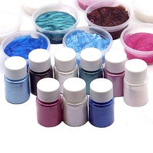 10g İnci Tozu DIY Kabarık Balçık Dolgu aksesuarları Kiti Glitter Toz dekorasyon Çoklu Kristal Mud Boya besler