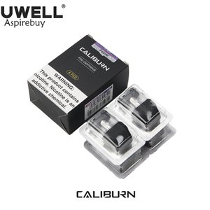 4Pcs / Pack UWELL Caliburn Pod Cartridge Funciona con Caliburn Pod System 1.4ohm 2ml Capacidad de jugo Top-Fill Pod Vape Vaporizer 100% Original