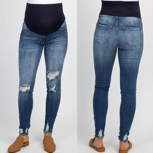 Prop Göbek Legging # G45US Hemşirelik Gebelik giysi beden Gebe Ripped Jeans Hamile Pantolon Pantolon