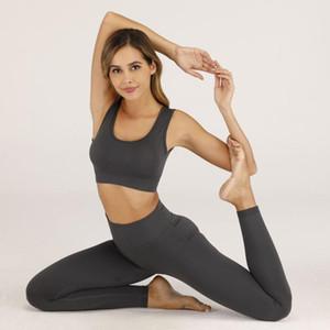 Suit Yoga Feminino Seamless Correndo Academia Desportiva Academia Suit de Mulheres Correndo Set 2 peças Yoga Sets Sports Bras + Leggings