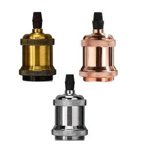 suporte da lâmpada Lamp Edison Vintage Base de Dados Pingente luz E27 Screw base do bulbo de alumínio Luz soquete industrial Retro Acessórios de Fixação