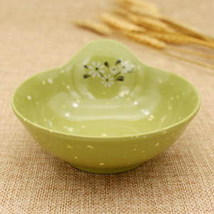Japanese Style mélamine Hot Pot Table unique oreille Assaisonnement Bowl haute qualité Sauce Soja Plats WB835