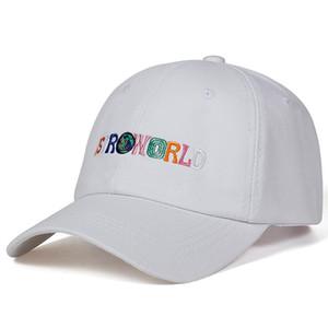 코튼 편지 인쇄 야구 모자 Travis Scott Unisex Astroworld 아빠 모자 모자 고품질 자수 남자 여름 모자