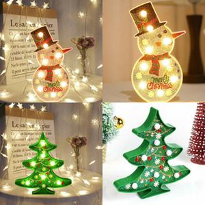 DIY Christmas Tree LED Diamond Painting Snowman Light Lamp Embroidery Full Drill