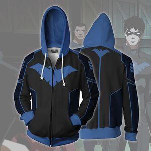 DC cartoon super hero night sweater Digital wing 3D sweater digital printing cosplay