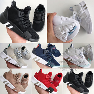 EQT Basketball Adv Kinderschuhe 2019 Designer Boy Girls Sneakers Sub Grün Schwarz Weiß Aschblau Navy Running Kinderschuhe Größe 26-35