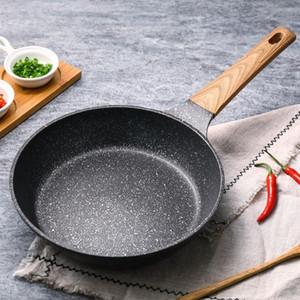 20-28 CM Medical Stein Antihaft-Bratpfanne New Pancake Steak Pan Kein Fumes mit Abdeckung Verwenden Gas Cooker