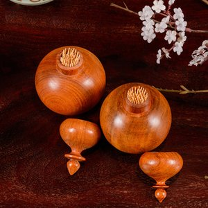 Redwood Toothpick Bucket Restaurant Wooden Toothpick Box   Wood Carving Ornaments Toothpick Jar Portable Crafts Handmade Gifts