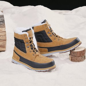 Kar spor tarzı deri çizme erkekler süper sıcak botlar kaymaz ordu botlar ordu ayakkabıları erkek ayakkabi peluş astar
