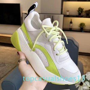 Идеальный Official качества обуви Дизайнер Новый роскошный Eclypse Stella Платформа кроссовки Мода Mccartney Женская обувь Удобная t13