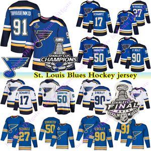 campeão 2019Stanley Cup St Louis Blues jersey Vladimir Tarasenko Ryan OReilly Jaden Schwartz Patrick Maroon Binnington Perron jérsei do hóquei