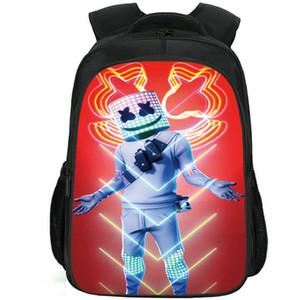 Sfida zaino Musica Marshmello zainetto DJ gioco zainetto tempo libero stampa zaino scuola borsa sportiva giorno Pack Outdoor