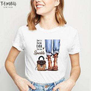 Şimdiye kadar hiç kimsenin şimdiye kadar donma Dull t Kısa mektubu baskılı vogue gömlek kadın çanta tees topları
