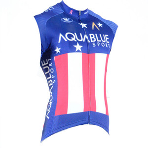 Aqua Blue team Cycling Sleeveless jersey Vest new summer mountain bike breathable quick-dry men riding shirts 71901