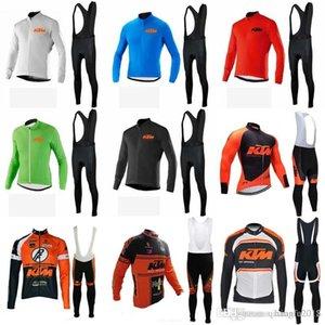 Radsportbekleidung 2018 Team KTM Langarm Fahrrad Trikot Kit Ropa Ciclismo Fahrrad Radfahren Wear Trägerhose Sets C0915