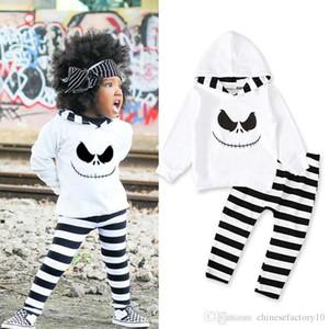 Baby Halloween Girl Garçon Devil Devil Sweat à capuche + Pantalon 2 PCS / Set Sous à manches longues Sweat-shirt blanc Pantalons Nouveaux vêtements