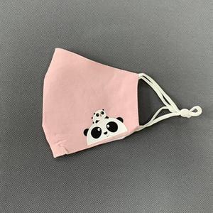 kids face mask designer face masks Spring and summer children Cartoon printed folding ear strap adjustable cotton student stereo mask pink