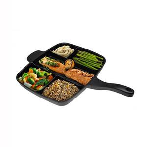 5 В 1 Волшебное сковороду Master Non -Stick Разделенные Гриль Пан Поварской «S Fry печь Meal Skillet Выпечка Посуда