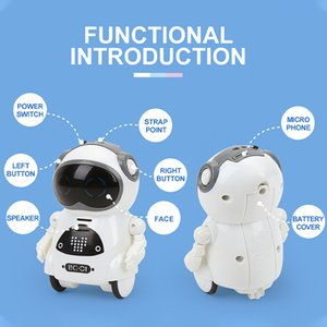 GOOLSKY 939A RC Pocket Robot Talking Interactive Dialogue Voice Recognition Record Singing Dancing Telling Story Mini Robot Toy