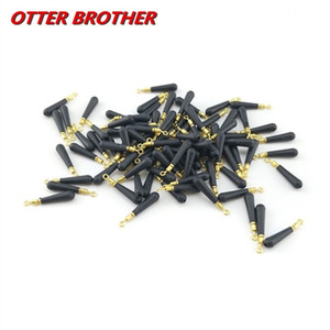 30pcs Lot Copper Head Fishing Gear Block Rotation Drift Fishing Floats Rubber Bobber Float Seat Rest Accessories And Tools