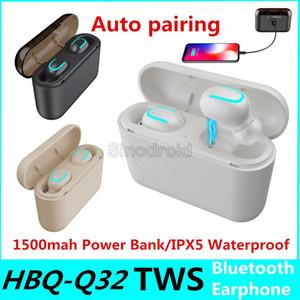 HBQ Q32 TWS Беспроводные наушники гарнитуры Bluetooth Ture 5,0 гарнитура с микрофоном Мини Bluetooth Earbud Беспроводные наушники Cheapest