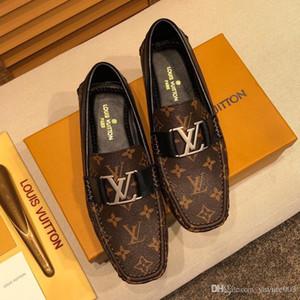 2020 DHL Louis Vuitton Shoes LV   design rouge Bottoms hommes chaussures robe de soirée de mariage plat DHL mocassins avec des pointes glands chaussures en cuir noir de Oxfords