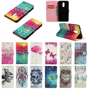 3D Flower Skull Sea Wood Lace Flip Cover Leather Wallet Case for Samsung A6 A8 PLUS J2 J4 J6 J3 J4 J7 J8 A7 A9 2018 A2 core