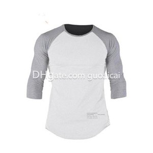 Fashion Quick-dry Ventilate Men's Clothing Three Quarter Sleeve Male Running Jerseys High Quality Hot Sale Fit Clothing Free Shipping