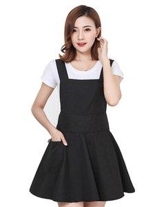 Nuova cucina coreano moda grembiule carina femminile negozio chiodo truccatore vita ricami personalizzati stampa impermeabile