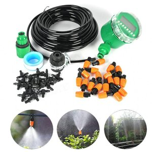 Boruit 15M DIY Automatic Watering Timer Micro Drip Irrigation System Adjustable Dripper Smart Controller Kit For Garden Plant