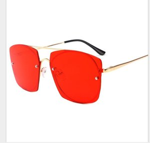 New Korean version of Chaozhou large frame sunglasses with round face and anti-ultraviolet reticular red glasses