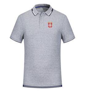 serbien 2020 Frühling und Sommer neues Baumwollfußballpolohemd der Männer kurze Ärmel Revers Polo kann DIY-Herren-Polohemd sein