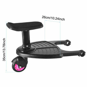 Sibling Toddler Standing Board Baby Stroller Wheeled By Board Child Stroller Black Seat Holds