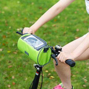 Рама велосипеда для головы Top Tube водонепроницаемый велосипед мешок сенсорный экран мобильного телефона сумка для хранения Велоспорт Сумки горный велосипед аксессуары RRA3127