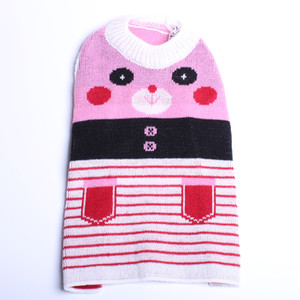 Pet Dog Sweater Hoody Panda jacquard del cucciolo del gatto dei ponticelli i vestiti caldi del rivestimento del cappotto 4 colori
