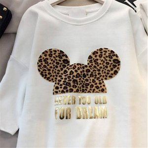 Womens Designer T shirts Brand Dresses with Animal Lovely Mouse Fashion New Arrival Summer Dress Women Short Sleeve Long Tee Dress M-XXL-DN-