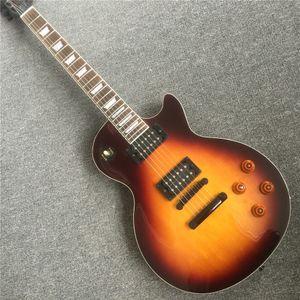 Frete GrátisCustom 1958 Standard Slash Dream Brasileiro Dark Burst Vos Serial # 49 Planície Maple Top Electric Guitar Creme Encadernação, Duplo Blac