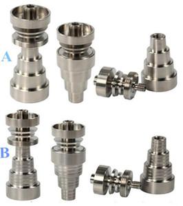 Universal Titanium Nail 10mm&14mm&19mm GR2 Domeless Titanium Nail Joints 6 IN 1 domeless titanium nail, Water pipe Smoking Pipes Glass bongs