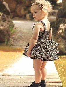 Ins Summer leopard print baby girl dresses fashion girls dresses Ball Gown party princess dress kids dresses formal dress B643