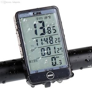 Wholesale-Sunding 576C Touch-Taste LCD-Hintergrundbeleuchtung Fahrradcomputer Wireless Fahrrad Tachometer Kilometerzähler wasserdicht Radfahren Computer