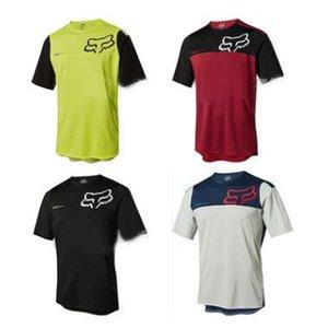 Os modelos de cabeça de raposa TLD 2020 T-shirt velocidade de costura superar DEMONSTRA FLS mountain bike roupas secas manga curta rapidamente