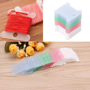 50pcs Plastic Sewing Supplies Embroidery Floss Craft Thread Bobbins for Storage Holder Cross Stitch Winding Stitch Wound Board