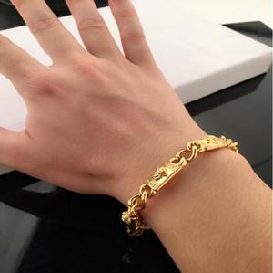 2020 Newest gold color Bracelets Big brand style charm bracelet double head bracelet high quality plating color high-end