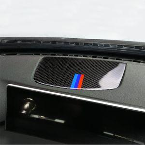 Fibre de carbone Centre Tableau de bord Klaxon Président Panneau décoratif Coller autocollant pour BMW Série 3 F30 F34