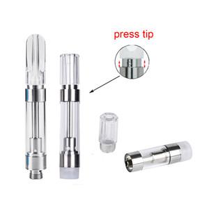 M6T Press Tip Vape Carts 1ml 0.5ml Oil Tank Empty Vape Pen Carts Ceramic Coil 510 Cartridge Vapes Packaging Box ecig