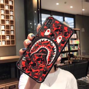 One Piece Luxury телефон чехол для iPhone 6S 7 8 P X XS мода Камуфляж акула покровных новый дизайнер телефон обратно для подарков